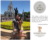 Load image into Gallery viewer, disney oval diamond engagement ring