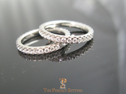 Micro Pave Diamond Eternity Bands