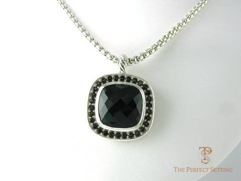 Onyx and Topaz Pendant