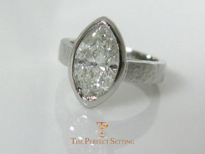 Marquise Diamond Bezel Set Ring