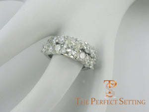 princess cut diamond engagement ring with diamond wedding band