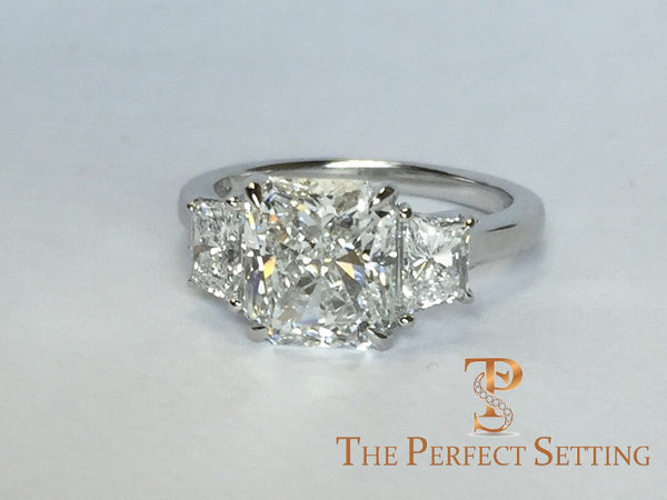 Radiant Cut 2.5 ct Diamond Custom Engagement Ring