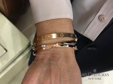 Load image into Gallery viewer, criss cross rose gold diamond cuff bracelet cartier