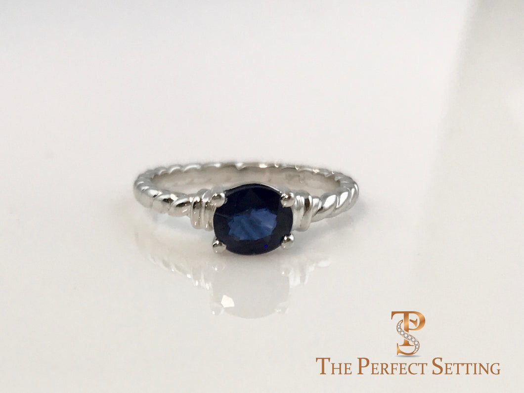 Oval Sapphire Rope Ring
