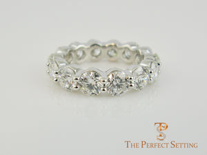 Shared Prong Round Diamond Eternity Band 4.70 ctw