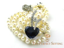 Load image into Gallery viewer, Tanzanite Heart and Diamond Pendant Enhancer