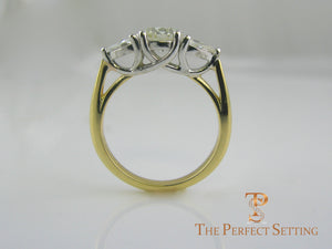 custom engagement ring trellis side