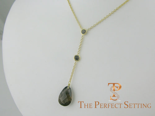 topaz birthstone necklace 18K yellow gold