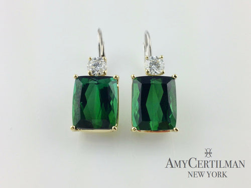 tourmaline and diamond wire earrings amy certilman