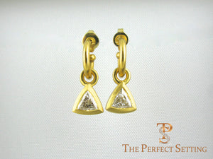 Diamond Trillian Trilliant earrings gold