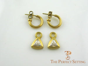 Diamond Trillian Trilliant earrings dangles
