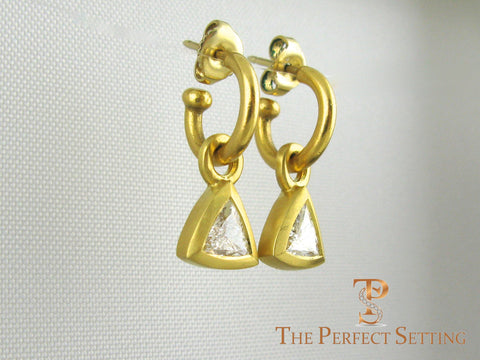 Diamond Trillian Trilliant earrings