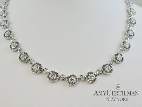 Diamond necklace custom amy certilman
