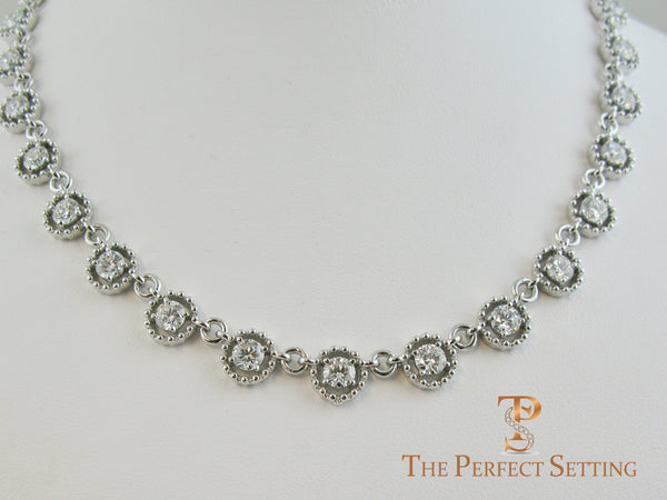 Diamond Eternity Link Necklace
