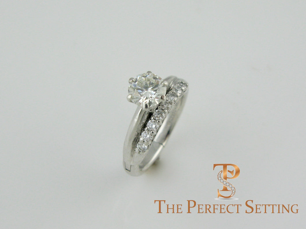 resetting diamond tiffany ring with adjustable shank for arthritis