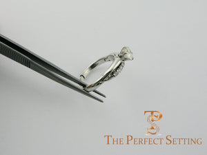 Destroyed Engagement Ring Repaired with Dual Adjustable Shank for Enlarged Knuckle