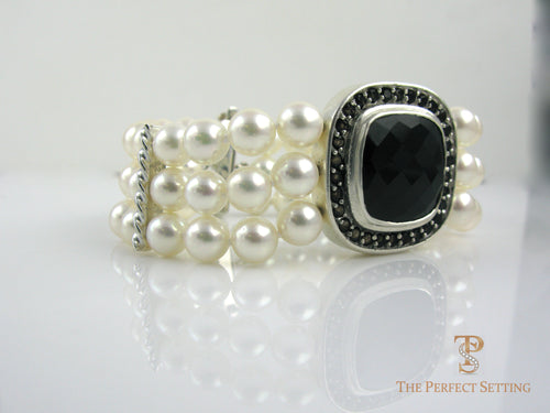 akoya pearl bracelet only and topaz clasp