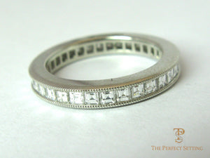 Channel Set Square Caret Diamonds