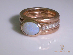 Opal Diamond Rose Gold Ring