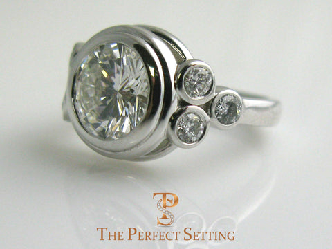 Bezel Diamond White Gold Ring