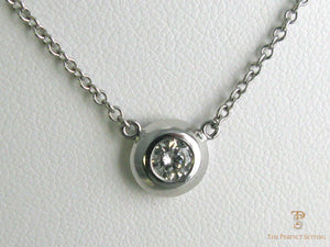 Diamond Necklace with Bezel-Setting