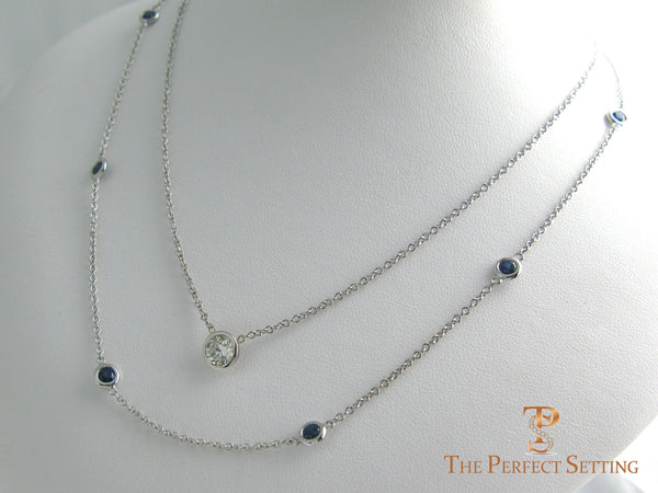 Bezel Set Sapphire Necklace The Perfect Setting