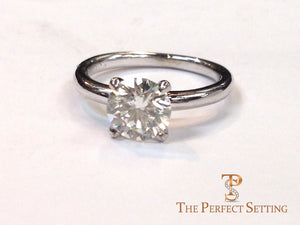 classic 4 prong diamond engagement ring