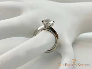 6 Prong Diamond Engagement Ring Razor Edge Setting