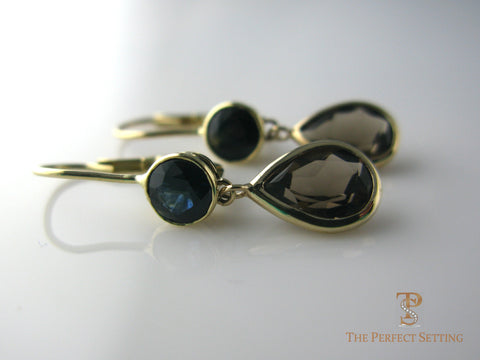 Topaz and Sapphire Earrings