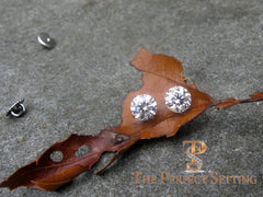"3 ctw diamond studs ""hearts and arrows"" martini setting"