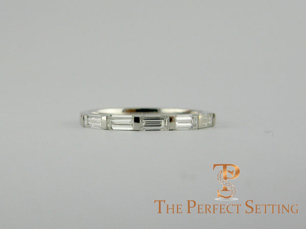 custom baquette diamond wedding bands