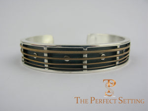 Guitar String Sterling Cuff Bracelet Jewelry back