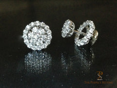 removable diamond halo jacket for earrings