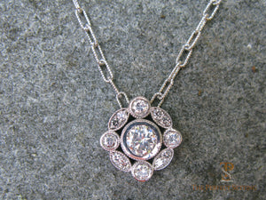 Diamond Pendant on Fancy Chain