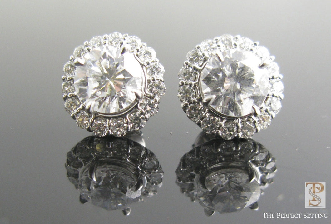 Diamond Earring Jackets with Diamond Studs