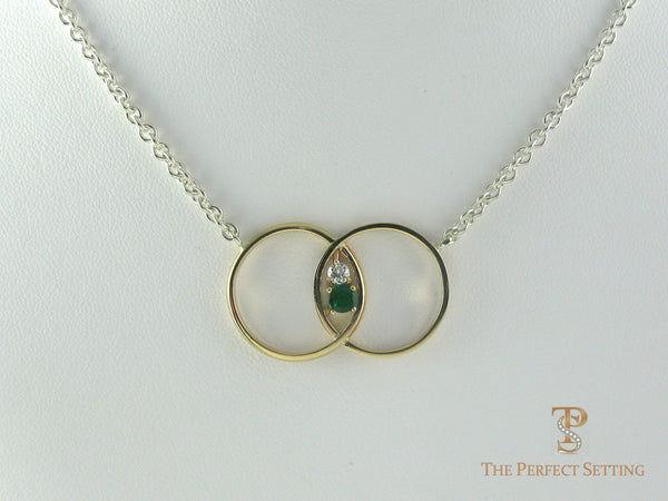 Double Wedding Band Pendant