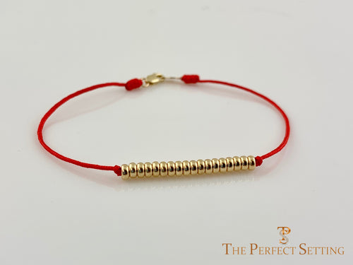 Gold Bead Friendship Bracelet Macrame