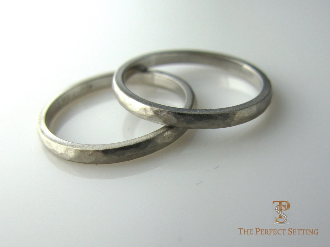 Hammered Gold Wedding bands.