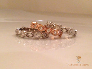 Diamond Oval and Round Eternity Bands