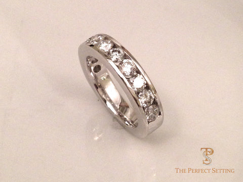 Channel Set Diamond Eternity Wedding Band