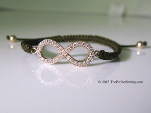 Rose Gold Diamond Infinity Bracelet