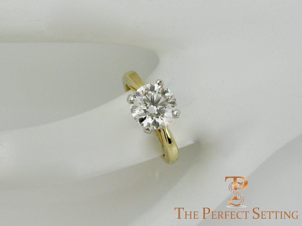 Lab Created Cultured Diamond Ring in Custom 18K Gold Setting
