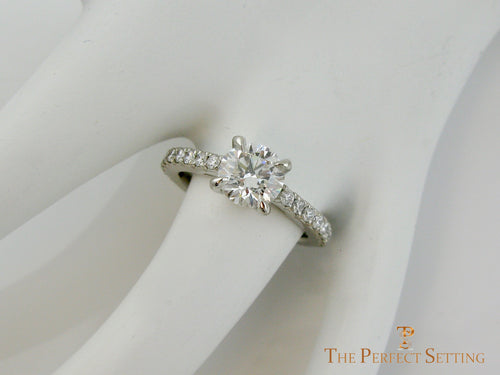Lab Diamond Engagement Ring Diamond Band