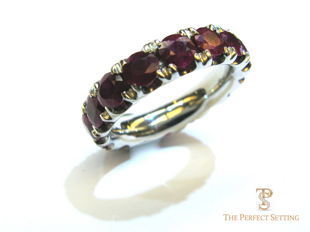 Natural Ruby Eternity Band
