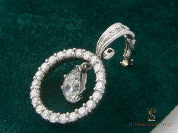 Pear Diamond Circle Pendant Enhancer