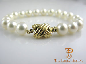 Pearl Bracelet Gold Clasp