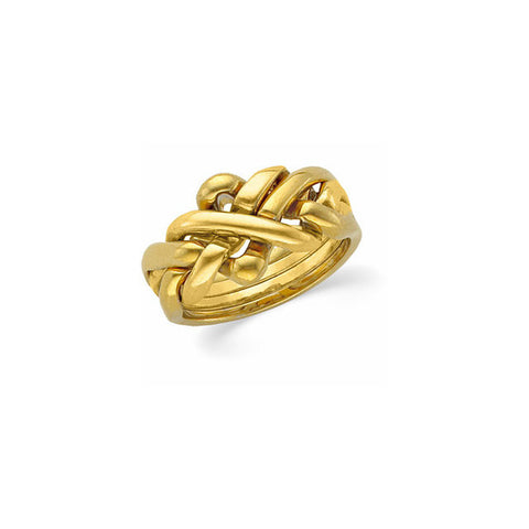 Yellow Gold Puzzle Ring
