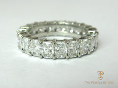Radiant Cut Diamond Eternity Band 5ctw