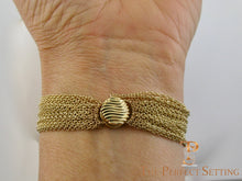 Load image into Gallery viewer, Repurposed Wedding Band Bracelet with Multi Chain and Magnetic Clasp