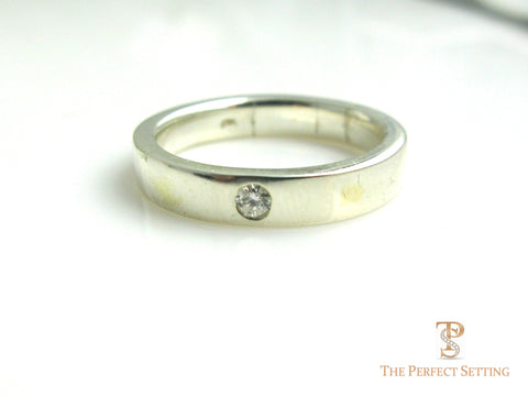 Men's Wedding Band w/Diamond